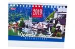 2019 Календарь-домик HATBER, на гребне, 160х105мм, горизон., Путешествие, 12КД6гр_13727 (K281611) оптом