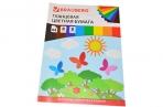 Цветная бумага А4 мелованная,  8л. 8цв., на скобе, BRAUBERG, 200х280мм, Бабочки, 129547 оптом