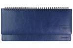 2020 Планинг настольный датированный BRAUBERG Imperial, гладкая кожа, крем. блок, синий, 305*140мм оптом