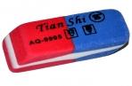 Ластик комбинированный Tian Shi, малый, красный/синий оптом