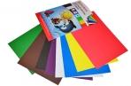"""Картон цветной А4 немелованный, 8 листов 8 цветов, в папке, BRAUBERG, 200х290 мм, """"Дельфин"""", оптом"""