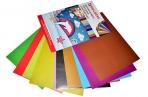 "Цветная бумага А4 (200х280 мм) 2-сторонняя мелованная (глянцевая), 10 листов 20 цветов, в папке, BRAUBERG, 200х280 мм, ""Дельфин"", 129923 оптом"