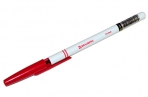 Ручка шариковая BRAUBERG Офисная, КРАСНАЯ, корпус белый, узел 1мм, линия письма 0.5 мм, 140892 оптом