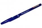 Ручка шариковая ОФИСНАЯ ПЛАНЕТА Офисная корпус cиний, узел 1мм, линия 0.5 мм, 140999 оптом