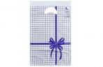 """Пакет """"Синяя клетка"""", полиэтиленовый с вырубной ручкой, 22 х 30 см, 12 мк оптом"""