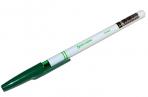 Ручка шариковая BRAUBERG Офисная, ЗЕЛЕНАЯ, корпус белый, узел 1мм, линия письма 0.5 мм, 141511 оптом
