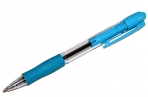 Ручка шариковая масляная автомат. с грипом PILOT Super Grip, СИНЯЯ, голуб. детали, линия0, 32мм, BPGP-10R оптом