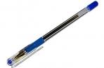 """Ручка шариковая масляная с грипом MUNHWA """"MC Gold"""", СИНЯЯ, корпус прозр., 0.5 мм, линия 0, 3мм, BMC-02 оптом"""