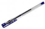 Ручка гелевая STAFF, СИНЯЯ, корпус прозрачный, хром. детали, узел 0.5 мм, линия 0, 35 мм, GP107 оптом