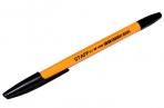 """Ручка шариковая STAFF """"BP-1000"""", ЧЕРНАЯ, корпус оранжевый, узел 0, 7 мм, линия письма 0, 35 мм, 142827 оптом"""