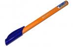 """Ручка шариковая масляная BRAUBERG """"Extra Glide Orange"""", СИНЯЯ, трехгранная, узел 0, 7 мм, линия письма 0, 35 мм, 142925 оптом"""