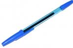 """Ручка шариковая масляная STAFF """"Office"""", корпус тонированный синий, узел 1 мм, линия письма 0, 7 мм, синяя, 142962 оптом"""