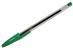 Ручка шариковая STAFF Basic Budget BP-02, письмо 500 м, ЗЕЛЕНАЯ, длина корпуса 13, 5см, 0.5 мм, 143761 оптом