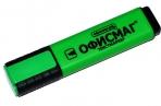 Текстмаркер ОФИСМАГ, ЗЕЛЕНЫЙ, классический, скошенный наконечник, 1-5 мм, 151204 оптом
