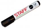 Маркер для доски STAFF, ЧЕРНЫЙ, с клипом, круглый наконечник 5 мм, 151491 оптом