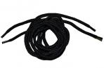 Шнурки для обуви круглые, d = 4 мм, 120 см, пара, цвет чёрный оптом