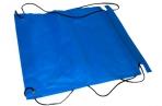 Мешок для обуви на стяжке шнурком, синий оптом