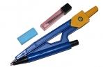 Циркуль пластиковый с механическим карандашом, в ПВХ, с грифелями, МИКС оптом