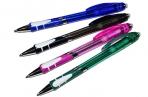 Ручка шариковая ПИШИ-СТИРАЙ, 0. 8 мм, автоматическая, стержень синий, корпус тонированный с резиновым оптом
