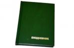 Ежедневник недат., A6, 160л., бумвинил,  зеленый, OfficeSpace оптом