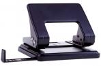 Дырокол 20л., металлический, OfficeSpace черный, с линейкой оптом