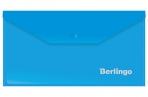 Папка-конверт на кнопке Berlingo, C6, 180мкм, синяя оптом