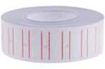 Этикет-лента 21*12мм, белая с красной полосой, 1000 этикеток OfficeSpace оптом