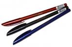 """Ручка шариковая Berlingo """"Metallic"""" синяя, 0, 7мм, корпус ассорти оптом"""