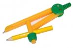 Циркуль ПИФАГОР пластиковый с карандашом, 110мм,  в чехле, 210236 оптом