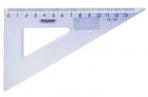 Треугольник пластик 30*13 см ПИФАГОР, тонированный, прозрачный, голубой, 210617 оптом