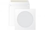 Конверт бумажный 125*125 для CD, KurtStrip, с окном, декстрин оптом