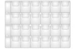 Лист OfficeSpace на 24 монеты 33*35, горизонтальный, 120мкм оптом
