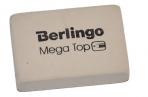 """Ластик Berlingo """"Mega Top"""", прямоугольный, натуральный каучук, 32*18*8мм оптом"""