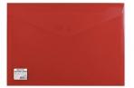 Папка-конверт с кнопкой BRAUBERG, А4, до 100 листов, непрозрачная, красная, СВЕРХПРОЧНАЯ 0, 2 мм, 221 оптом