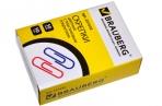 Скрепки BRAUBERG 50 мм цветные, 50 шт., в карт. коробке, 221533 оптом