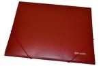 Папка на резинках BRAUBERG Стандарт, красная, до 300 листов, 0.5 мм, оптом
