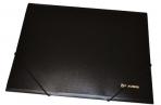 Папка на резинках BRAUBERG Стандарт, черная, до 300 листов, 0.5 мм, оптом