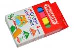 Мел цветной ПИФАГОР, НАБОР 4 шт., квадратный, 221977 оптом