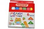 Мел цветной ПИФАГОР, набор 6 шт., квадратный, 221979 оптом