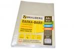 Папки-файлы перфорир А4+ BRAUBERG, гладкие, 0, 110 мм, 50 шт/уп оптом