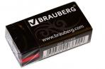"Ластик BRAUBERG ""BlackJack"", в картонном держателе, 40х20х11мм, трёхслойная, чёрная, 222466 оптом"