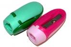 """Точилки BRAUBERG, НАБОР 2шт., """"ErgoClip"""", пластик. с клипом, в упаковке с подвесом, ассорти, 222490 оптом"""