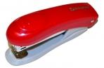 """Степлер BRAUBERG """"Einkommen"""", №10, до 12 л, пласт корпус, метал. мех, встроен антистеп, красный, 222532 оптом"""