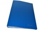 Папка 40 вклад. BRAUBERG Бюджет, синяя, 0, 6мм, 222634 оптом