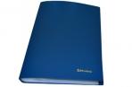 Папка 60 вклад. BRAUBERG Бюджет, синяя, 0, 6мм, 222636 оптом