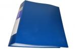 Папка 80 вклад. BRAUBERG Бюджет, синяя, 0, 8мм, оптом