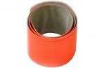Световозвращающий Slap-браслет Blicker, оранжевый оптом