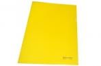 Папка-уголок жесткая BRAUBERG желтая 0, 15мм, оптом