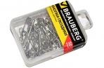Булавки английские BRAUBERG, 32 мм, никелированные, 50 шт., в пластиковой коробке с европодвесом, 223970 оптом