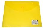 Папка-конверт с кнопкой BRAUBERG А5 240*190мм, прозрачная, желтая, 0, 15мм, 224028 оптом